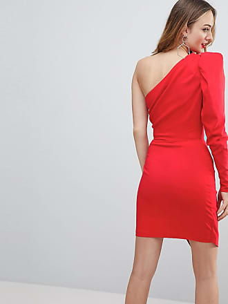ba65d459c277 Asos Tall ULTIMATE One Shoulder Structured Mini Dress - Red