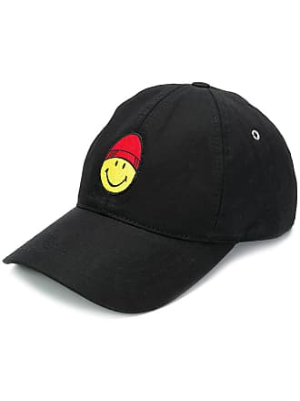Ami Cap With Smiley Patch - Black