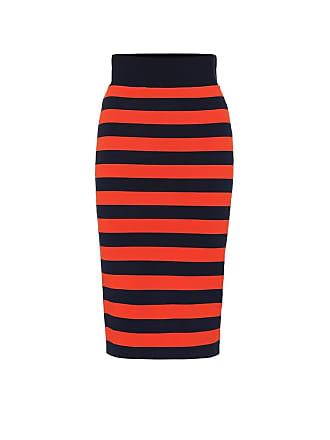 Veronica Beard Baker striped stretch knit skirt