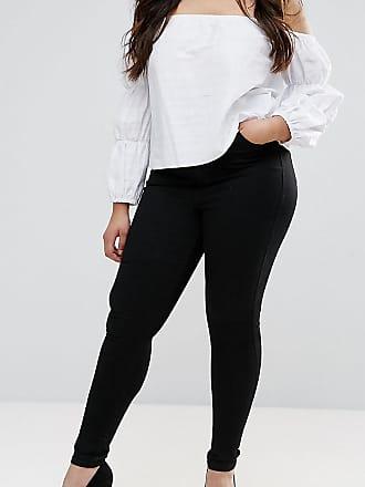 Asos Curve ASOS DESIGN - Curve - Sculpt Me - Hochwertige Jeans in Reinschwarz