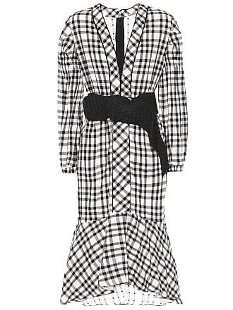 Johanna Ortiz Jalisco check linen dress