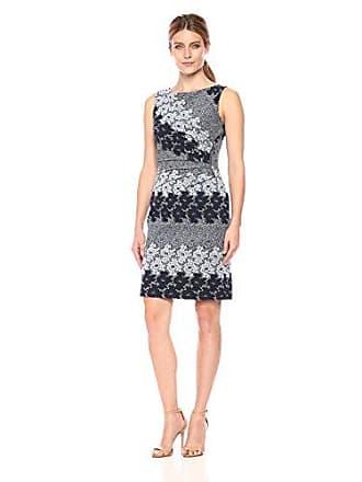Ivanka Trump Womens Denim Starburst Dress, Navy/Blue, 6