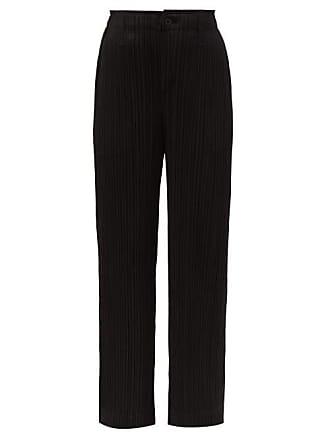 e5a3ec4b2a316 Pleats Please Issey Miyake Pantalon technique plissé taille mi-haute