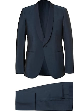 Ermenegildo Zegna Blue Slim-fit Wool And Mohair-blend Tuxedo - Petrol