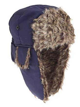 9efa650691b6d Floso Mens Faux Fur Lined Showerproof Thermal Trapper Hat (60cm) (Navy)