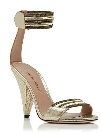 Tamara Mellon Cleo Khaki Elaphe Sandals, Size - 35.5