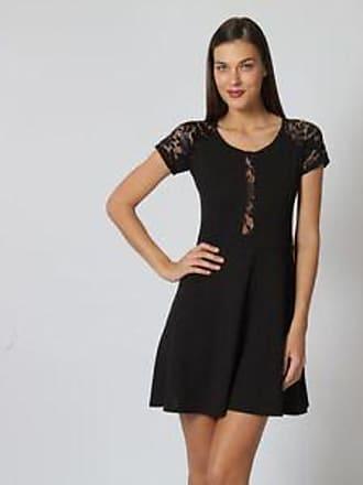 c0999ab05 Sarah Bustani Vestido con Cortes de Encaje Floral br Negro