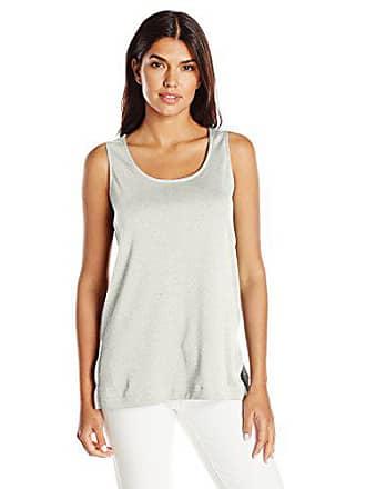 Joan Vass Womens Long Cotton Layering Tank, Heather 1
