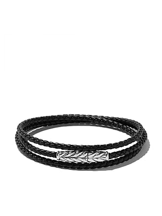 David Yurman Bracelete triplo de couro trançado - Ssbkle