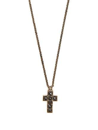 Gucci Cross Pendant Necklace - Mens - Black