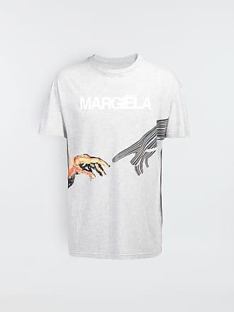 Maison Margiela Maison Margiela Short Sleeve T-shirt Light Grey Cotton