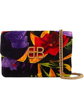 d699087f3d Balenciaga Bb Chain Quilted Printed Velvet Shoulder Bag - Red
