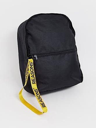 98a9fbd6b7 Asos Sac à dos avec fermeture éclair jaune à tirette zippée - Noir - Noir