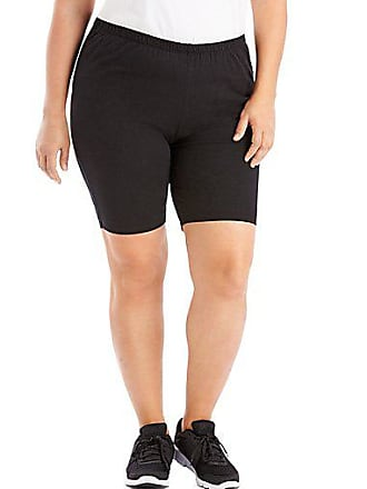 Just My Size Stretch Cotton Jersey Womens Bike Shorts Charcoal Heather 1X