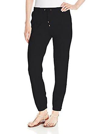 Joan Vass Womens Track Pant, Pitch Black, 1