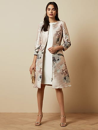 Ted Baker Woodland Dress Coat in Pale Pink CONIIEY, Womens Clothing