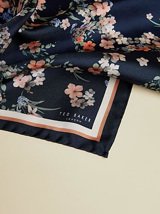 Ted Baker Floral Cluster Silk Pocket Square in Navy TANGLE, Mens Accessories