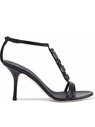 9258cba28363c Giuseppe Zanotti Giuseppe Zanotti Woman Crystal-embellished Glossed-leather  Sandals Black Size 39
