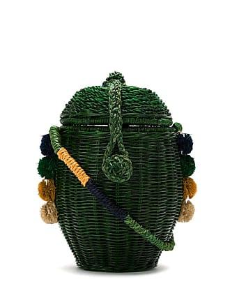 Serpui Bolsa mini de palha - Verde