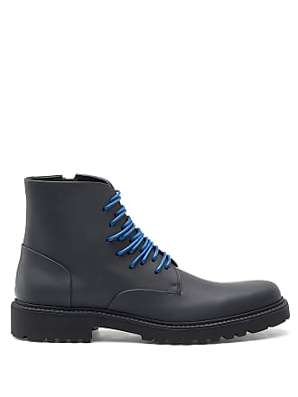 HUGO BOSS Hugo Boss Rubberized calf-leather boots alternative lacing system 7 Black