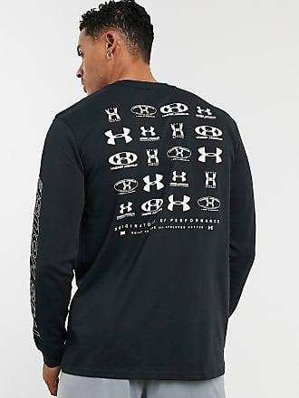 Under Armour Schwarzes, langärmliges Shirt mit Logo am Rücken