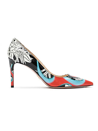 e5d08f5525c6 Prada Printed patent leather pumps - Black