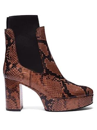 5e5c72bf467 Acne Studios Platform Python Effect Leather Chelsea Boots - Womens - Black  Brown