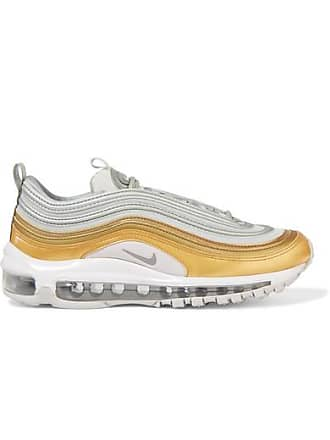Nike Air Max 97 Se Metallic Leather And Mesh Sneakers - White