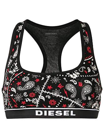 Diesel Top esportivo paisley - Preto