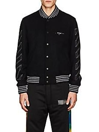 c8a0bc31a19e Off-white Mens 3D-Striped Wool-Blend Varsity Jacket - Black Size XS