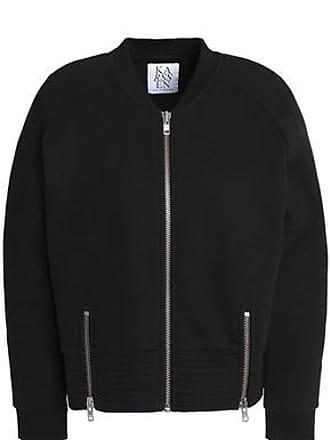 Zoe Karssen Zoe Karssen Woman Zip-detailed Cotton-blend Jersey Jacket Black Size XS