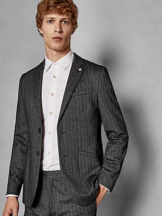 Ted Baker Semi Plain Jacket in Charcoal WENSLEY, Mens Clothing