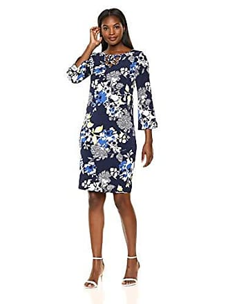Alfred Dunner Womens Texture Flower Dress, Multi 8