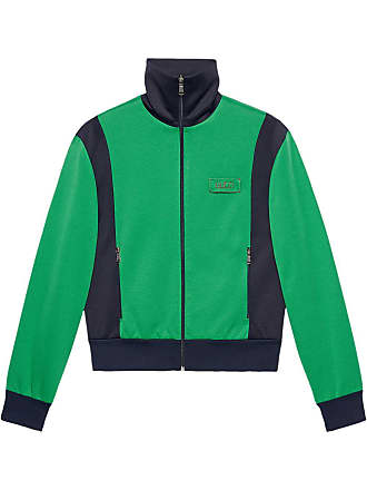 faae5b5ad98 Gucci Tiger patch technical jersey jacket - Green