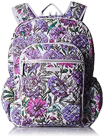 bbed97cd5b5 Vera Bradley Iconic Campus Backpack, Signature Cotton, Lavender Meadow