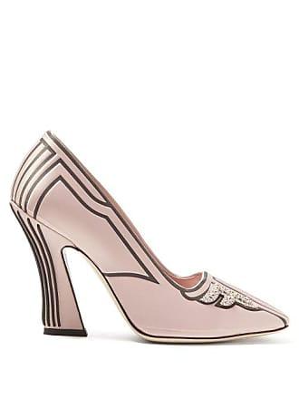 38da6f7079f Fendi Freedom Crystal Embellished Pumps - Womens - Pink