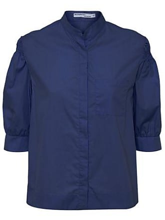 d73b0f70e4 Isabella Fiorentino x OQvestir Camisa Mandarim Isabella Fiorentino para  Oqvestir - Azul