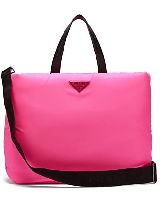 7c445eaa6e03 Prada Logo Embellished Padded Nylon Tote Bag - Womens - Pink