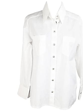 15d7def4fe61c1 Chanel White Cotton Button Down Shirt W  Patch Pockets Size 34