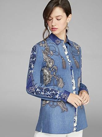 Etro Bandana Pattern Shirt, Woman, Light Blue, Size 42