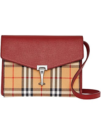 520832b6601f Burberry Small Vintage Check and Leather Crossbody Bag - Pink