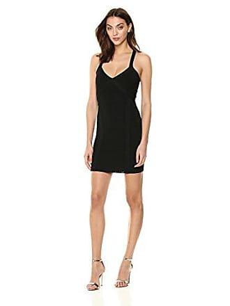 6df6b039b495 Guess Womens Sleeveless Crossover Cutout Mirage Dress