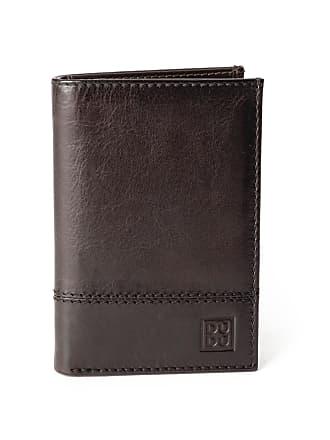 f75a14a9d2 DuDu Portafoglio uomo verticale pelle alta qualità con 9 tasche porta carte  tessere DUDU Marrone scuro