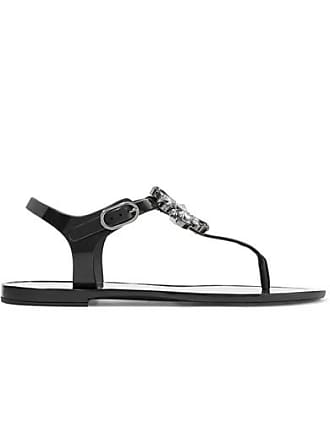 76d031b17 Dolce   Gabbana Crystal-embellished Rubber And Patent-leather Sandals -  Black