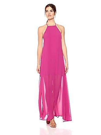 0dd0fddfba1 Show me your Mumu Womens Bronte Maxi Dress Fuchsia Pop Chiffon