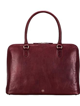 Maxwell Scott Maxwell Scott - Luxury Wine Leather Ladies Work Bag