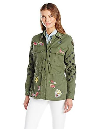 William Rast Womens Willliam Rast-Alicia Patch Jacket, Grape Leaf, S