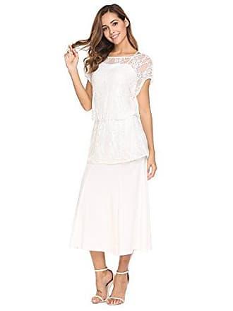 42eb61771061f5 ACEVOG Damen Elegante Maxikleider 2-Teiliges Spitzen Kleid Spaghettiträger  Brautjungfernkleid Abendkleid Partykleider Cocktailkleider