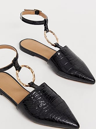Asos Likeable ballet flats with bamboo ring - Black