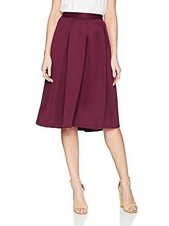 f9ff284ac4b16 Chelsea & Theodore Womens Inverted Pleat Scuba Skirt, Wine Stain 8